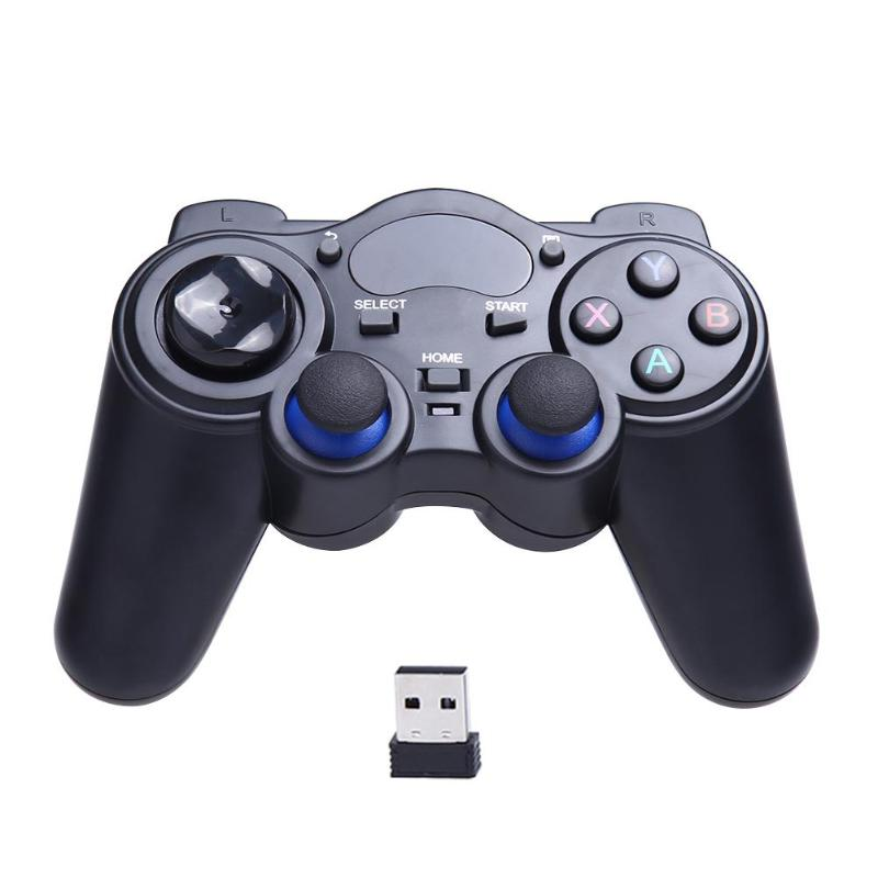 2.4GHz Wireless Game Controller Rechargeable Gamepad PC Smart Phone Joystick for