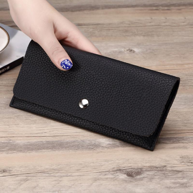 Girl Wallet Slim PU Leather Wallet Women Clutch Bag Lady Phone Cards Holder Candy Color Small Handbag Purse Wallet 3