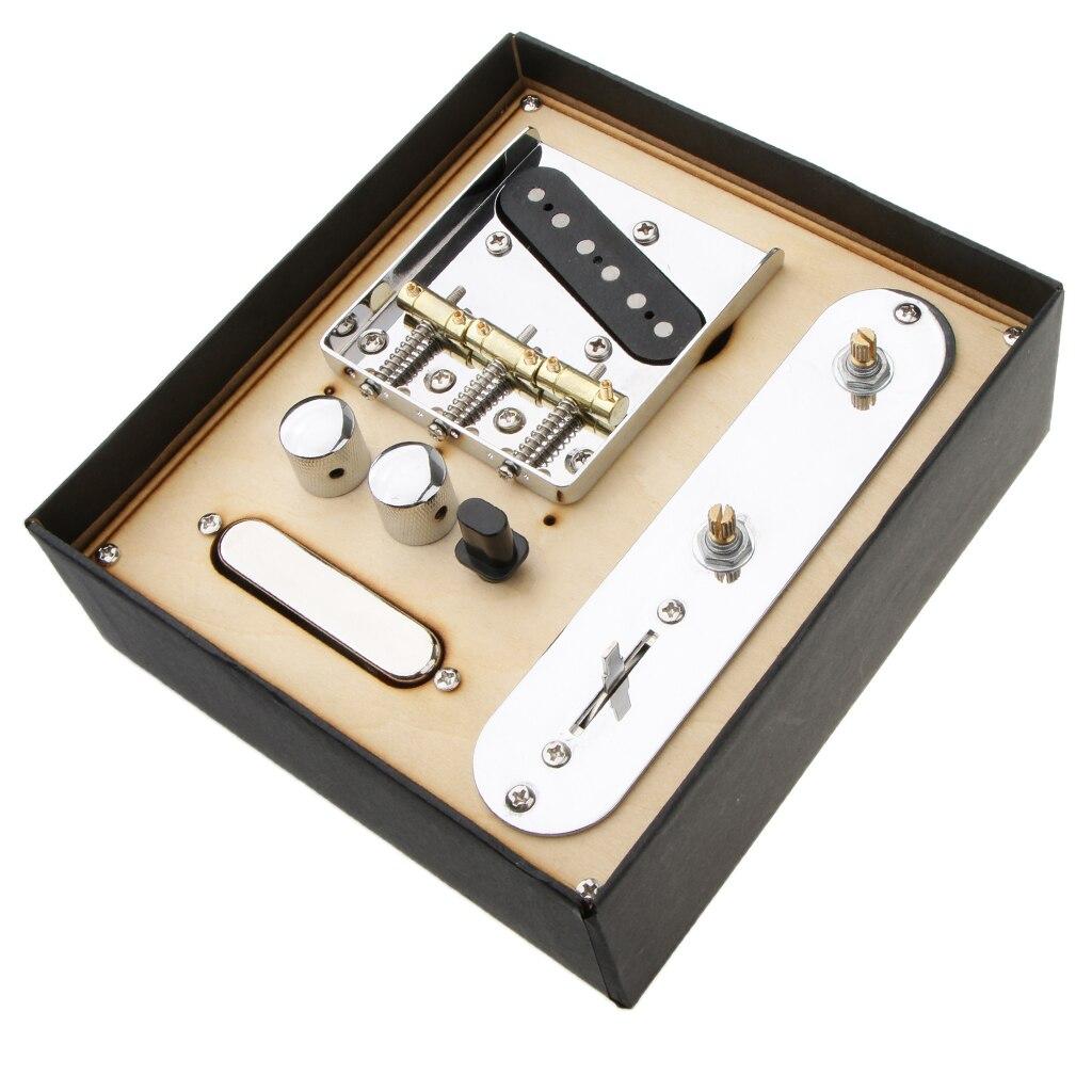 Guitare électrique cou Pickup W/pont ligne plaque ensemble pour Telecaster guitare électrique 3.37x3.03x0.41 pouces