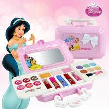 Disney Princess Makeup Toys Set Non-Toxic Cosmetics Pretend Play Set With Case Makeup Training Toys For Girls Birthday Gift(China)