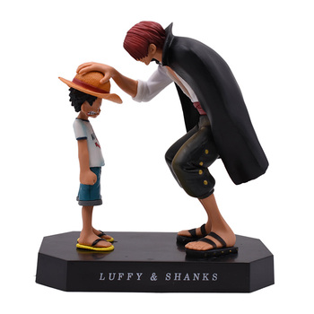 Anime One Piece Empat Kaisar Shanks Straw Hat Luffy PVC Action Figure Boneka Anak One Piece Monkey D. Luffy Collectible Model Toy Natal Hadiah