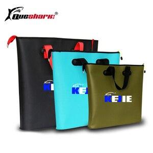 Image 1 - Seau pliable en EVA, 4 tailles, sacs portables de matériel de pêche en plein air avec réservoir deau pour la pêche