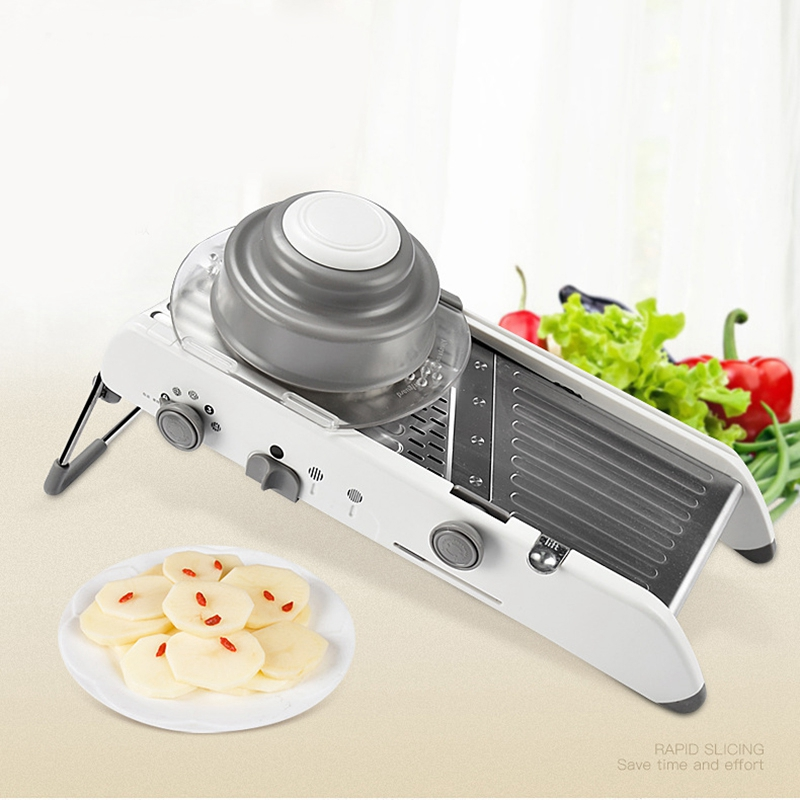 Slicer Manual Vegetable Cutter Professional Grater With Adjustable Stainless Steel Blades Vegetable Kitchen ToolSlicer Manual Vegetable Cutter Professional Grater With Adjustable Stainless Steel Blades Vegetable Kitchen Tool