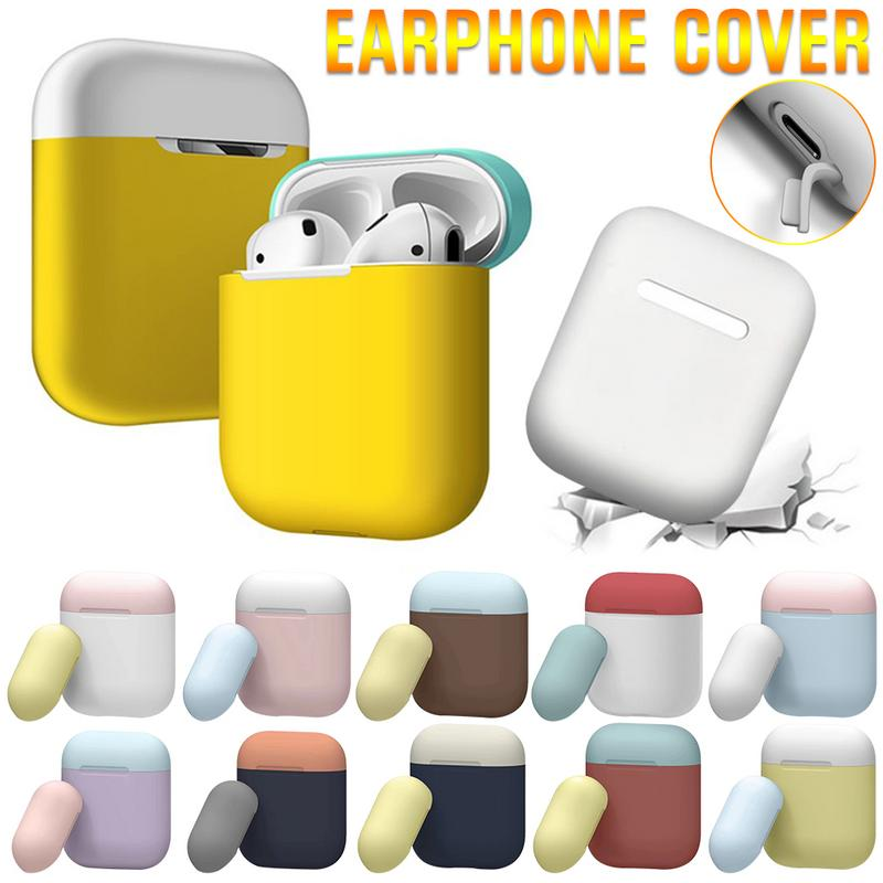 font b Airpods b font Case Mini Cute Colorful Headphones Wireless Bluetooth Dust proof Soft