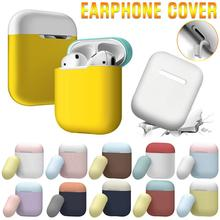 Airpods Case Mini Cute Colorful Headphones Wireless Bluetooth Dust-proof Soft Shell Two-tone 10 Kinds Of Color Free Combination