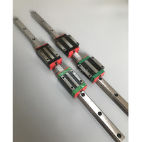 3pcs linear guide rail HGR15 300mm with 3pcs linear block carriage HGW15CC for CNC parts