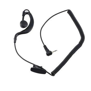 2.5mm Air Duct Headphones Walkie Talkie Headset Hand Microphone External Single Listening Earphone For Mobile Phone Mp3 Mp4