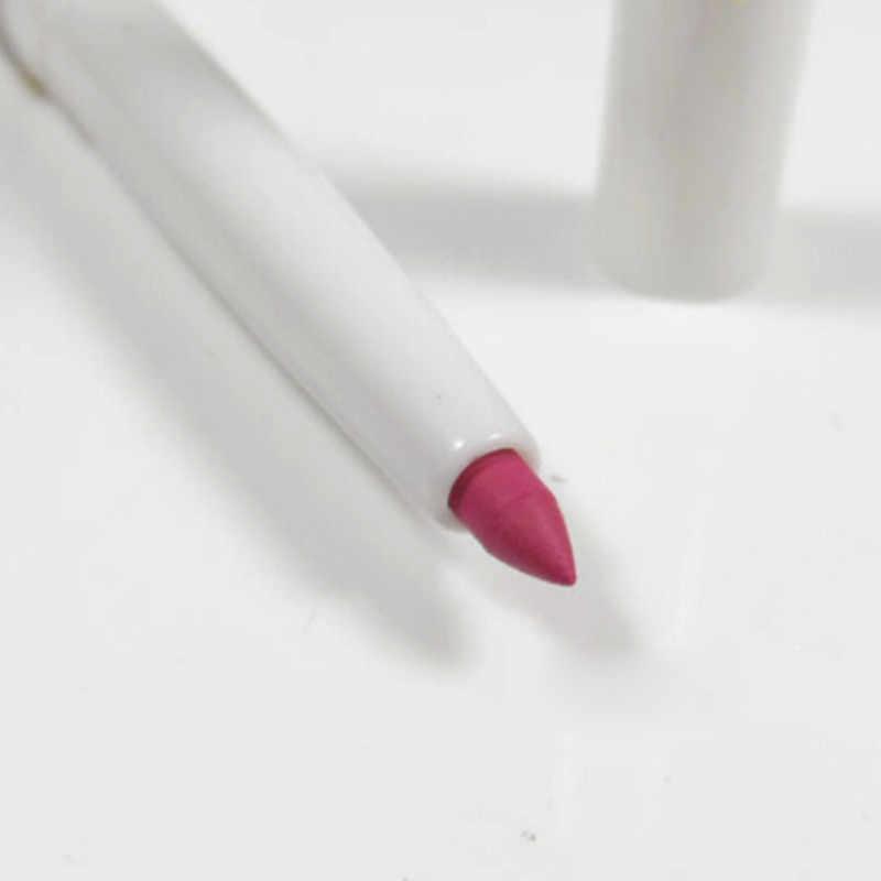 Nuevo 1PC impermeable delineador de labios lápiz señora belleza maquillaje herramienta delineador de labios pintalabios mate para mujer