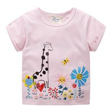 2019 summer T-Shirts For Girls Fashion cute O-Neck kids sprots tops Regular 2019 summer children t shirts lovely pink clothes