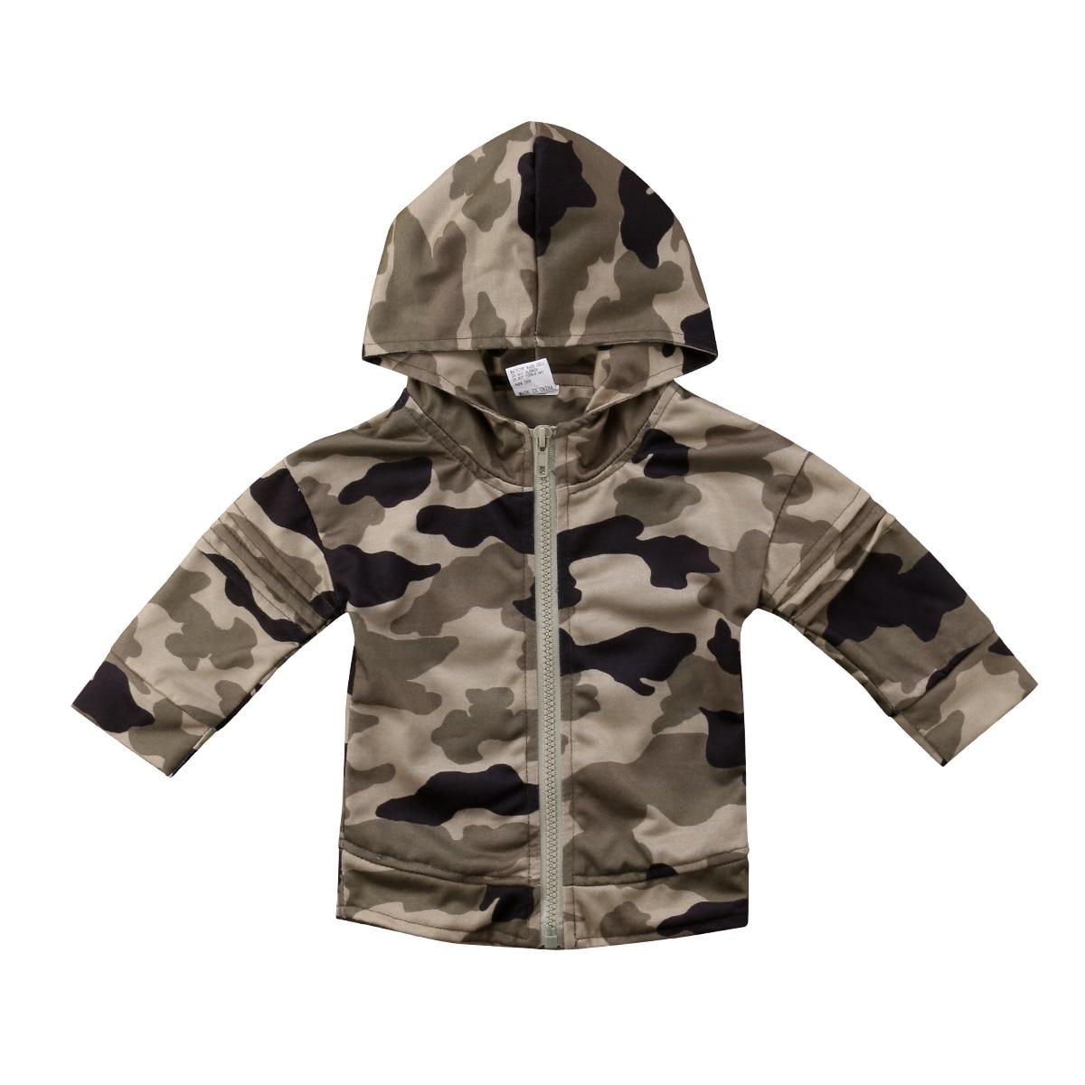 1-6 T Kinder Mit Kapuze Camo Mantel Kleidung Kleinkind Kinder Jungen Mädchen Lange Hülse Hoodie Tops Jacke Mäntel Kleidung Mild And Mellow