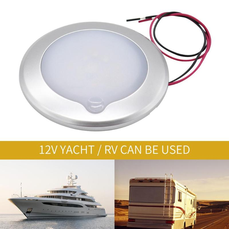 Car Camping <font><b>RV</b></font> Roof Ceiling Cabin Light IP67 Touch Dimming Boat Caravan Marine <font><b>Motorhome</b></font> Interior Lamp Caravan Auto <font><b>Accessories</b></font> image