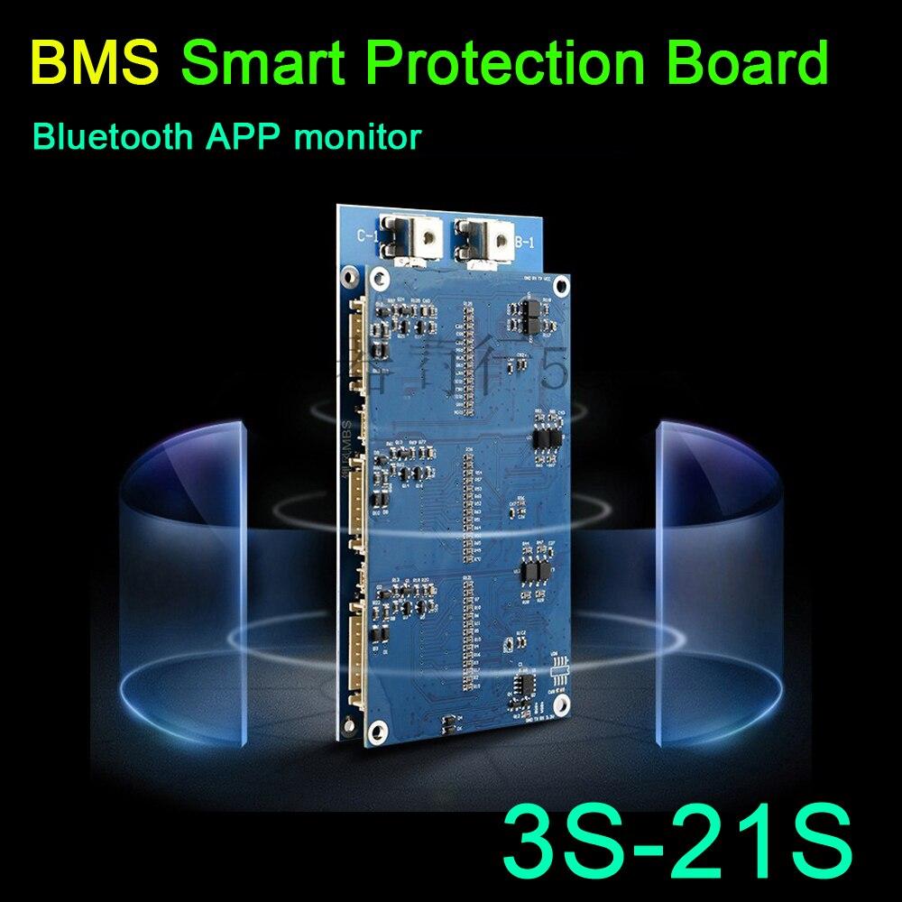 Dykb 3 S-21 S Li-ion Lifepo4 Attivo Equilibrio Bms Bordo Di Protezione Intelligente Di Coulomb + Software Per Pc Usb Di Dati Cavo 4 S 7 S 10 S 13 S 16 S 20 S E La Digestione Aiuta