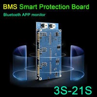 DYKB 3S 21S Li ion Lifepo4 Active Balance BMS Smart Protection Board Coulomb + PC software USB DATA CABLE 4s 7s 10s 13s 16S 20S