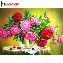 Huacan Diamond Embroidery Sale Flower Pictures Of Rhinestones Painting With Square Stones Flowers Hobby And Handicraft
