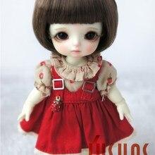 JD256 1/8 прекрасные куклы bjd парики Размер 5-6 дюймов короткие кукольные Парики Модные кукольные аксессуары