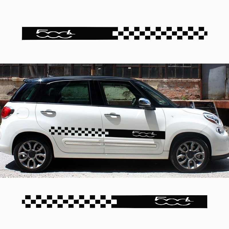 For Fiat 500l Stylish Car Body Sticker Vinyl Body Decal Side