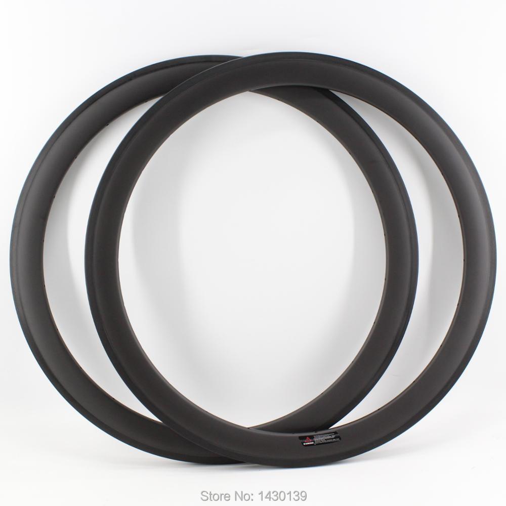 1Pair Newest 700C 50mm clincher rim Road bike matt finish UD full carbon fibre bicycle wheels