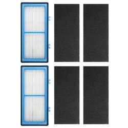 2 HEPA + 4 карбоновые бустерные фильтры для Холмса AER1 HEPA Тип общий воздушный фильтр, для Холмса очиститель воздуха фильтр AER1 серии, Repl