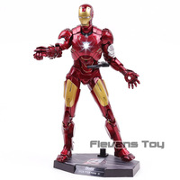 Hot Toys Marvel Iron Man Mark VI MK 6 1:6 Scale PVC Action Figure Collectible Model Toy with LED Light