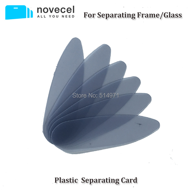 Novecel 100 pcs Plastic  Separating Card for Separating Frame Glass for Samsung Galaxy S6 edge S7 ege