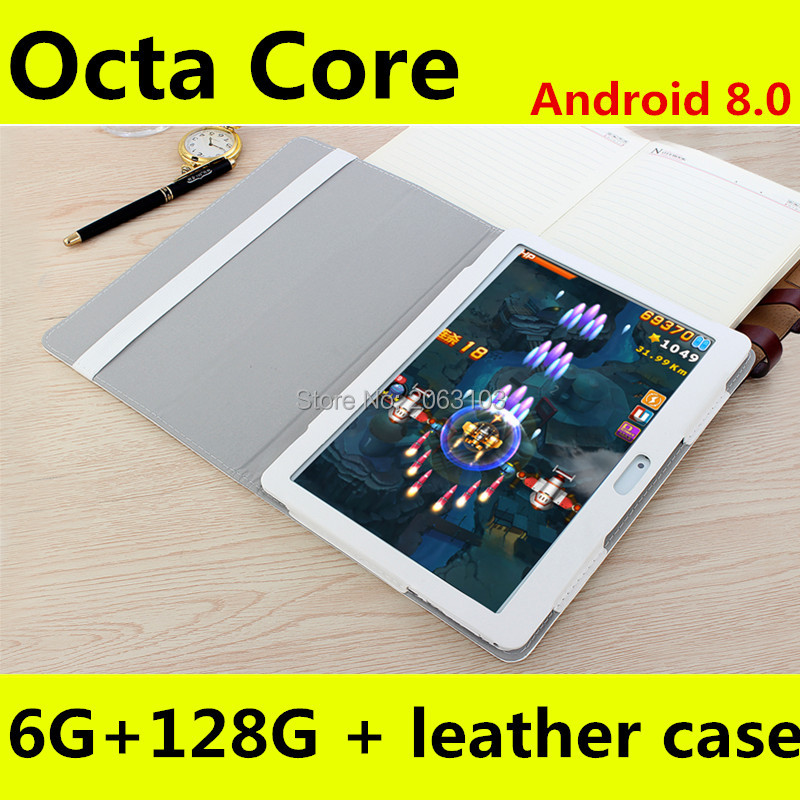 10.1 Inch Tablet Octa Core 6GB RAM 128GB ROM 1280*800 IPS Android 8.0 GPS Bluetooth FM Wifi Tablets 10 10.1 Tablet Pc