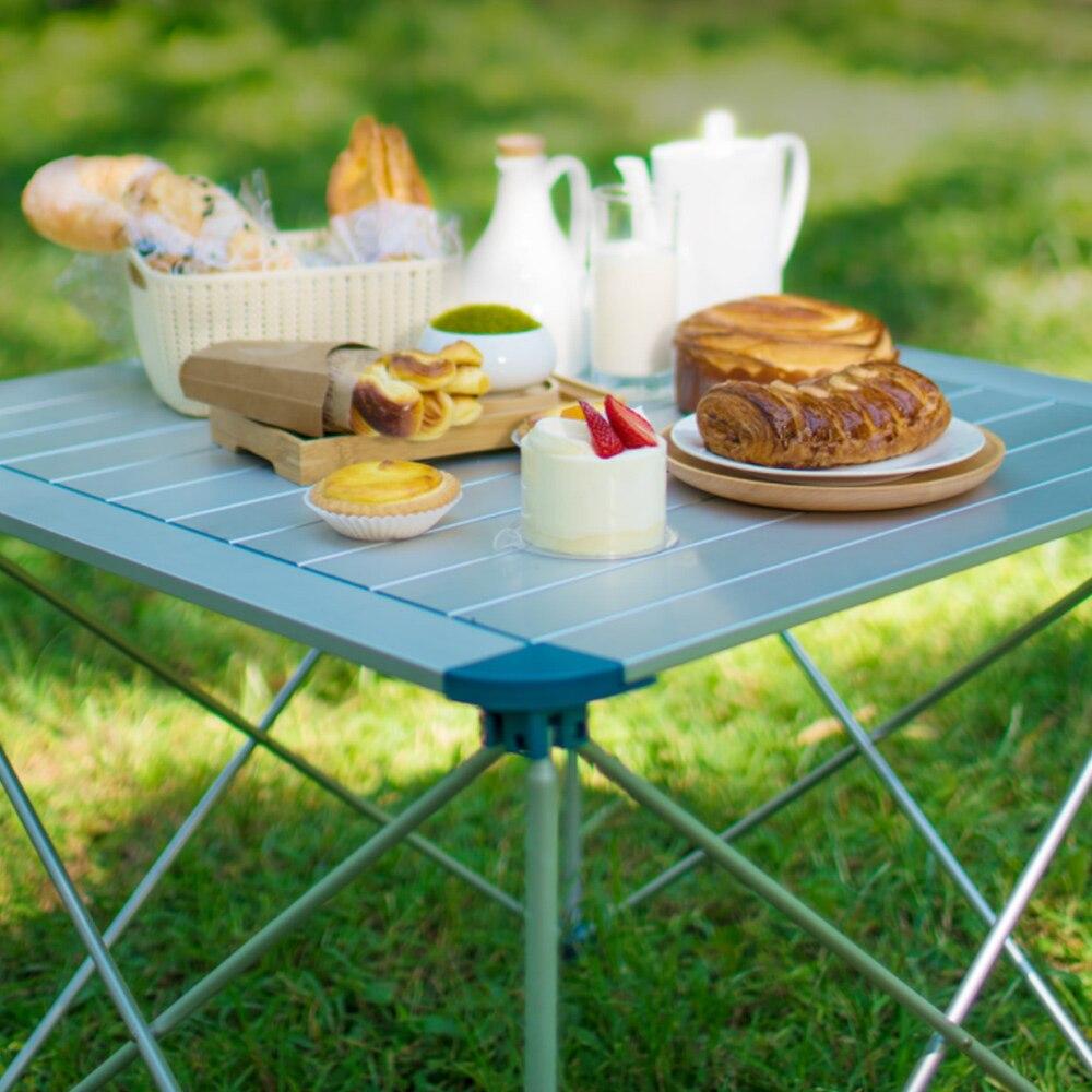 Table pliante compacte de Camping d'outils extérieurs portatifs Table pliante pliable de bureau de Camping pique-nique extérieur pour le voyage de randonnée
