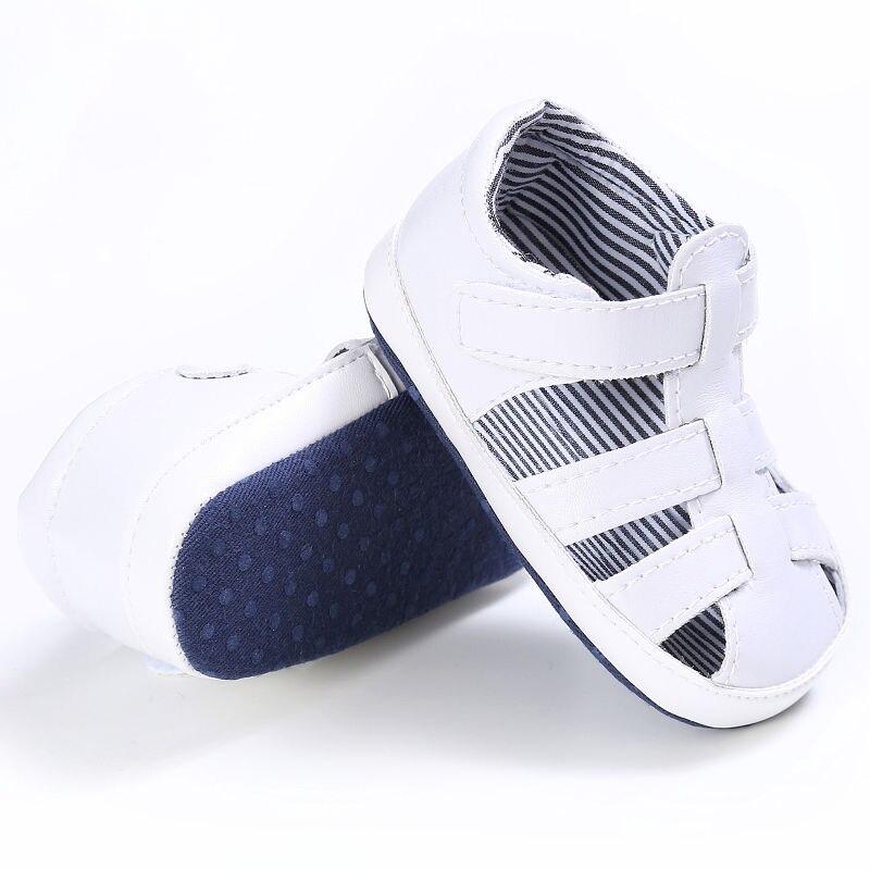 2020 Baby Boy Summer Shoes Antiskid Beach First Walker Anti Slip PU Leather Soft Sole Jongen Sandalen Kids Toddlers