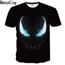BIANYILONG Новинка года Venom футболки с 3D-принтом для мужчин Повседневная рубашка короткий рукав Фитнес Футболка мужские топы рубашки тяжёлая атлетика база слои