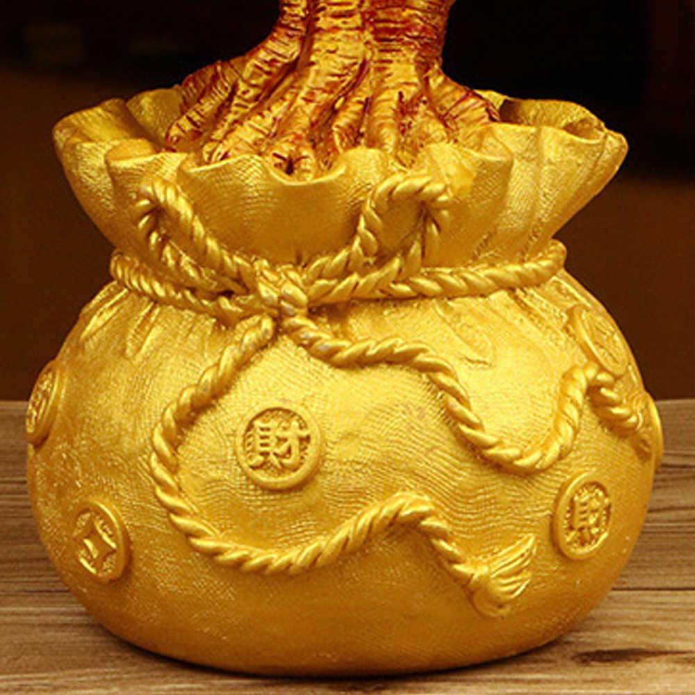 شجرة ثروات من الكريستال للأموال المحظوظة والثروة الصينية الذهبية لتزيين المكاتب المنزلية أفضل الهدايا تزيين الطاولة