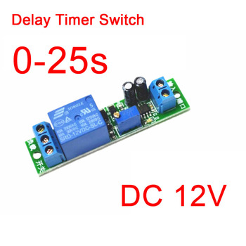 DC 12V Signal Trigger Delay Turn Off Delay Timer Switch Relay Module 0-25s FOR CAR GPS DVD image