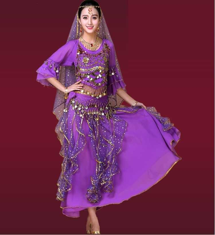 260602995 ... oriental dance bellydance costume set women egypt tribal belly clothes  indian bollywood costumes skirt tops veil ...