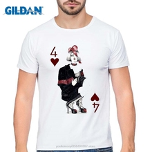 GILDAN mens short sleeve Lucky Lady Gambler printing T shirt boy t-shirt Novelty poker design two sexy girl tee casual tops