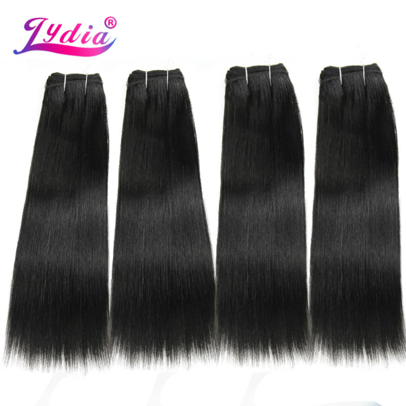 Image 3 - Lydia Synthetic Hair Extension 3PCS/lot Hair Weaving Straight Yaki 10 26 Inch 100% Futura Hair Weft Natral Color BundlesSynthetic Weave   -