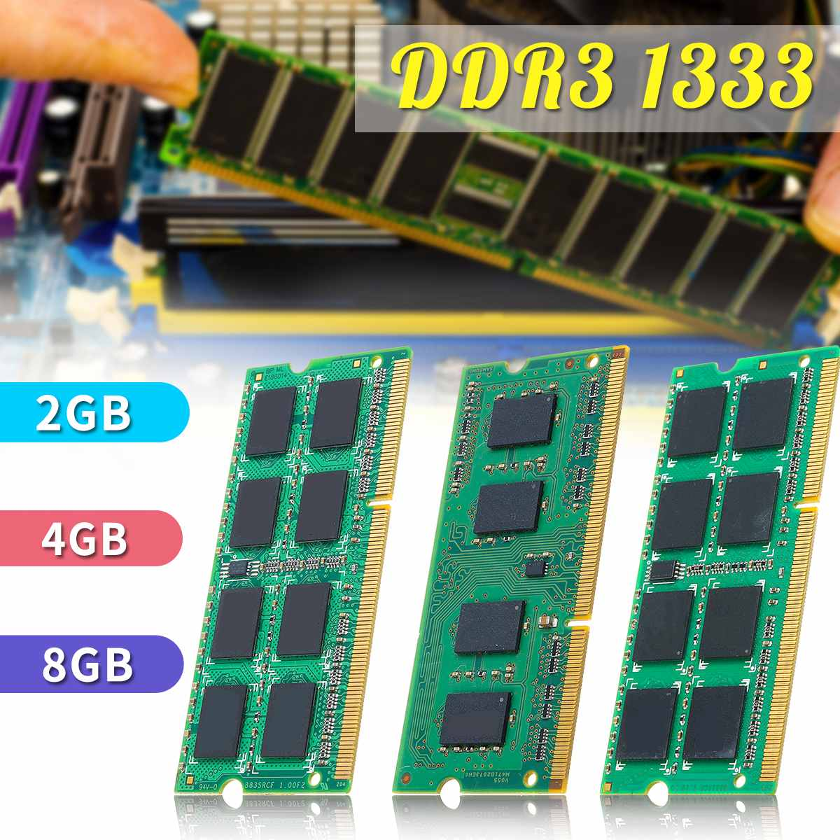 8GB 4GB 2GB Laptop Notebook Memory For Ram <font><b>DDR3</b></font> 1333mhz <font><b>PC3</b></font>-<font><b>10600S</b></font> 204 PIN SO-DIMM LOT image