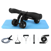 4 wheel Power Wheel Fitness Set Fitness Trainer Body Buiding Set Workout Equipments 4 wheel Power Wheel Fitness Equipment Kit