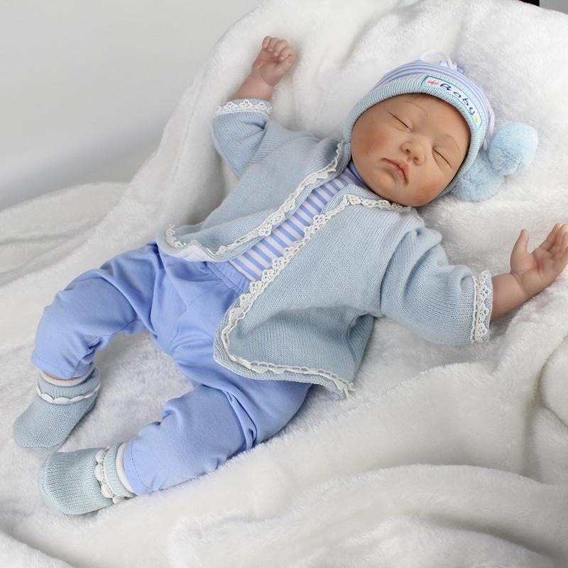 55cm Baby Reborn Fashion Baby Simulation Doll Reborn Dolls Bedtime Early Education for Children Birthday Gift