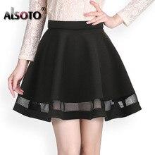 Fashion women skirt kawaii faldas ladies midi skirt Sexy skirts womens Pleated skirts saias Korea clothes