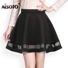 Fashion women skirt kawaii faldas ladies midi skirt Sexy skirts womens Pleated skirts saias Korea clothes summer tutu femme(China)
