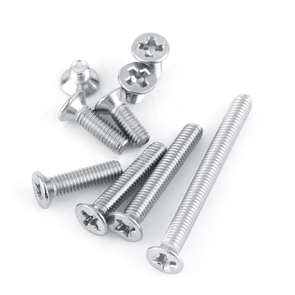 M312 Flat Head Screw 100Pcs M3 Stainless Steel SS304 Machine Countersunk Screw Bolt Fastener