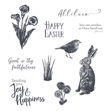 Rabbit and bird Transparent Clear Silicone Stamp/Seal for DIY scrapbooking/photo album Decorative clear stamp