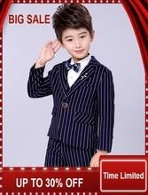 New Children Suit Baby Boys Suits Kids Blazer Formal For Weddings Clothes Set Jackets+Vest+Pants 3pcs 2-12Y