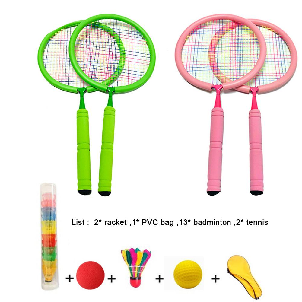 Super Sell Children Kids Play Game Plastic Tennis Badminton Racket Sports Toy Set Gift Learn Faster