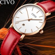 CIVO 2019 Top Brand Luxury Ladies Watches Women Relogio Feminino Chronograph Gold Watches Quartz Wristwatches Bayanlar Izle цена и фото