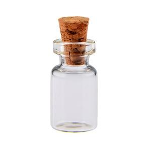 Image 5 - 50Pc/100pcs/1000pcs 0.5ml Mini Clear Glass Bottle Wishing Bottle Vials Empty Glass Jars With Cork Stopper Weddings Party Favors