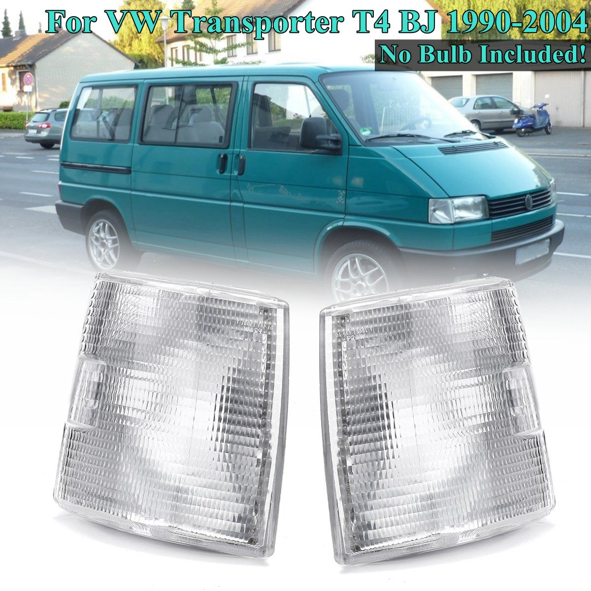1 Pair Front Corner <font><b>Lights</b></font> Indicator Signal Lamps for <font><b>VW</b></font> Transporter <font><b>T4</b></font> 1990 1991 1992 1993 1994 1995 1996 1997 1998 1999~2004 image