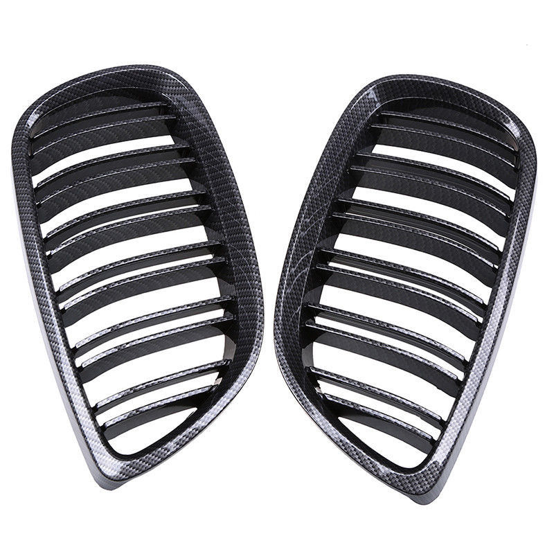 For BMW 3 Series E92 E93 M3 Coupe Carbon Fiber Front Kidney Sport Grilles Grill