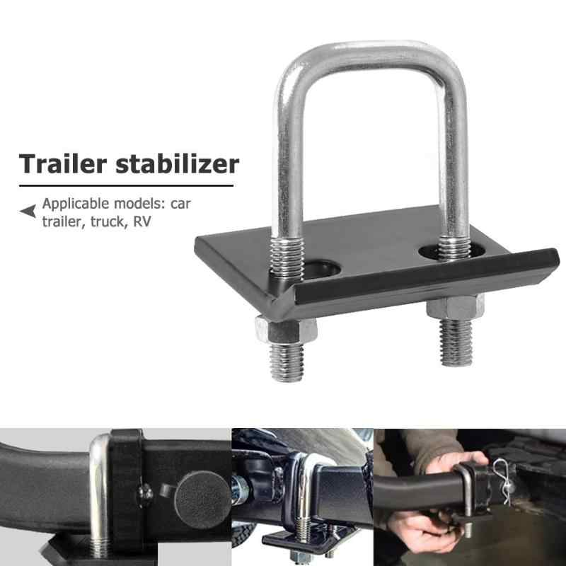 U-Bolt Heavy-Duty Anti-Rattle Stabilizer Hitch Tightener Lock Down Tow Clamp for Trailer RV Truck Suitable for All Hook Openings