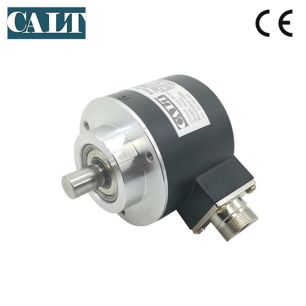 NPN Output CALT 10mm solid shaft incremental optical encoder low price aeronautical plug encoder NPN Output CALT 10mm solid shaft incremental optical encoder low price aeronautical plug encoder