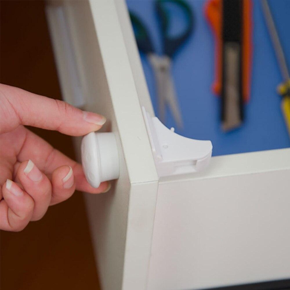 Magnético niño cerradura de seguridad de bloqueo de protección de los niños cajón armario de la seguridad del bebé de armario a prueba de cerraduras