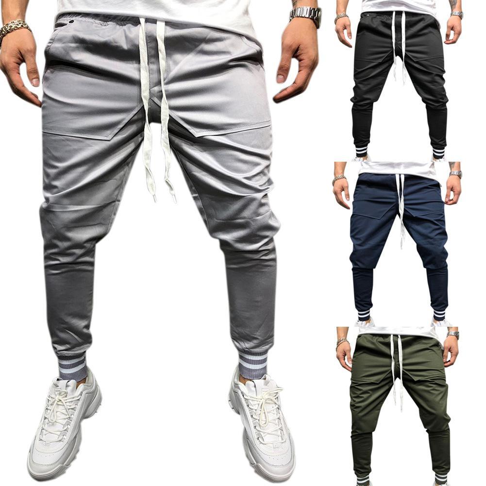 Men Jogger Pants Urban Hip Hop Casual Pencil Pants Fitness Sports Slacks Male Comfortable Fitness Workout Trousers Sweatpants